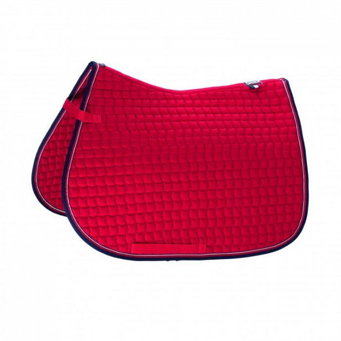 eskadron-cotton-saddle-pad-red/navy-binding