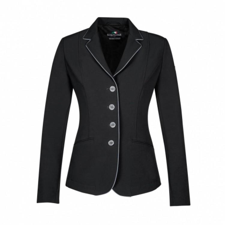 Equiline Christine Ladies Competition Jacket Black/Grey