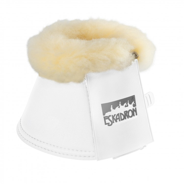Eskadron Faux Fur Synthetic Leather Over Reach Boots White